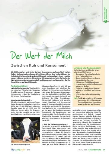 Der Wert der Milch - Zwischen Kuh und Konsument