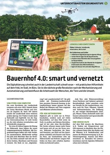 Bauernhof 4.0: smart und vernetzt - Digitalisierung der Landwirtschaft