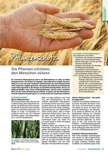 Pflanzenschutz - Die Pflanzen schützen, den Menschen nützen