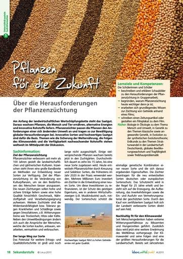 Pflanzen für die Zukunft - Herausforderungen der Pflanzenzüchtung