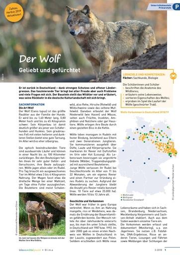 Der Wolf – aktualisiert Herbst 2019