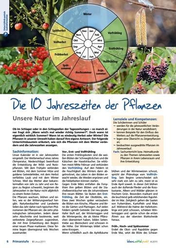 Die 10 Jahreszeiten der Pflanzen - Unsere Natur im Jahreslauf