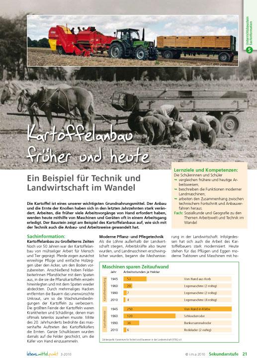 Kartoffelanbau früher und heute - Landwirtschaft im Wandel