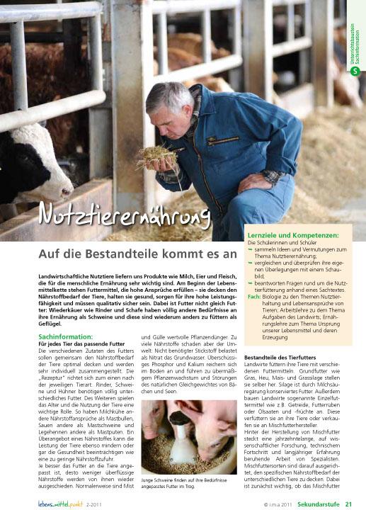 Nutztierernährung - Auf die Bestandteile kommt es an