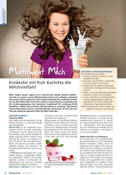 Multitalent Milch - Entdecke mit Kuh Karlotta die Milchvielfalt!