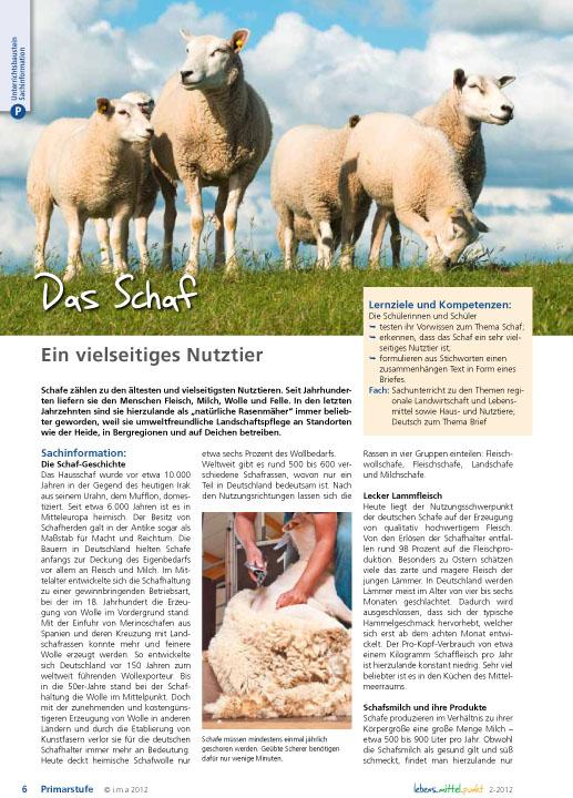 Das Schaf - Ein vielseitiges Nutztier
