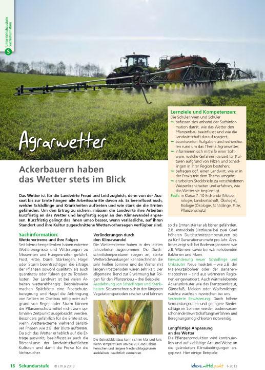 Agrarwetter - Ackerbauern haben das Wetter stets im Blick