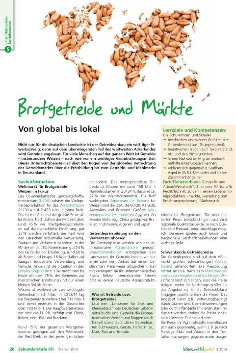 Brotgetreide und Märkte - von global bis lokal