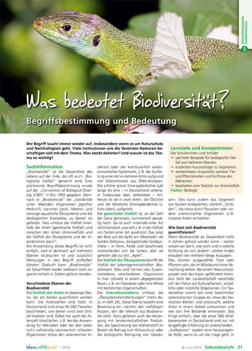 Was bedeutet Biodiversität? Begriffsbestimmung und Bedeutung.