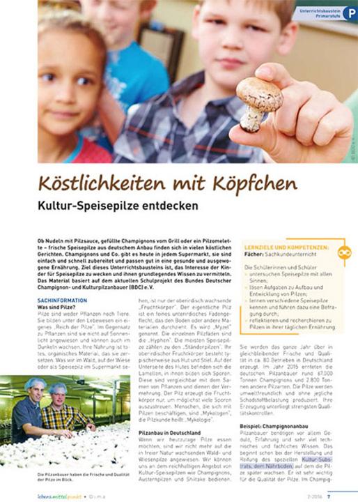 Köstlichkeiten mit Köpfchen - Kultur-Speisepilze entdecken