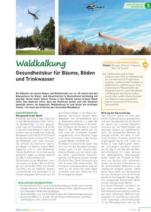 Waldkalkung - Gesundheitskur für Bäume, Boden und Trinkwasser