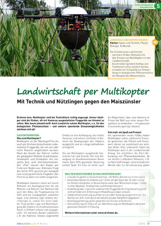 Landwirtschaft per Multikopter - Mit Technik und Nützlingen gegen den Maiszünsler