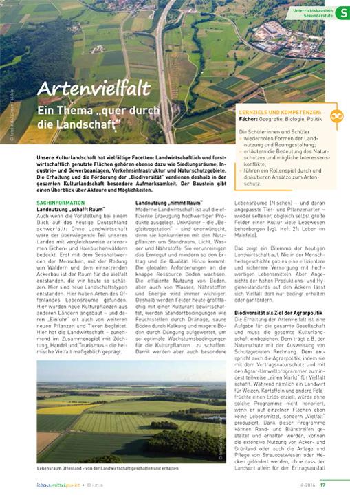 """Artenvielfalt - Ein Thema """"quer durch die Landwirtschaft"""""""