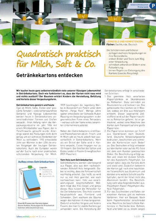 Quadratisch praktisch für Milch, Saft & Co. - Getränkekartons entdecken
