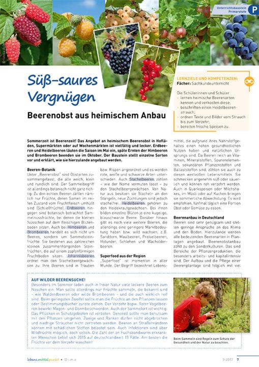 Süß-saueres Vergnügen - Beerenobst aus heimischem Anbau