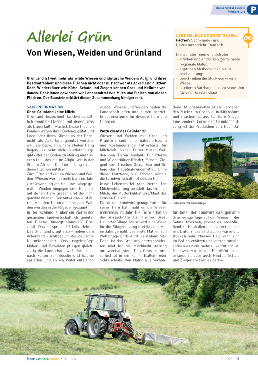 Allerlei Grün - Von Wiesen, Weiden und Grünland