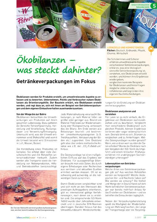 Ökobilanzen - was steckt dahinter? ...Getränkeverpackungen im Fokus