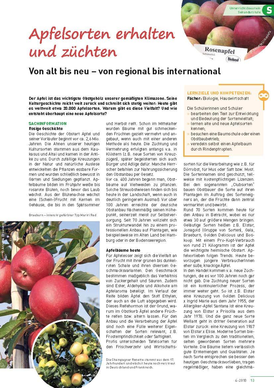 Apfelsorten erhalten und züchten