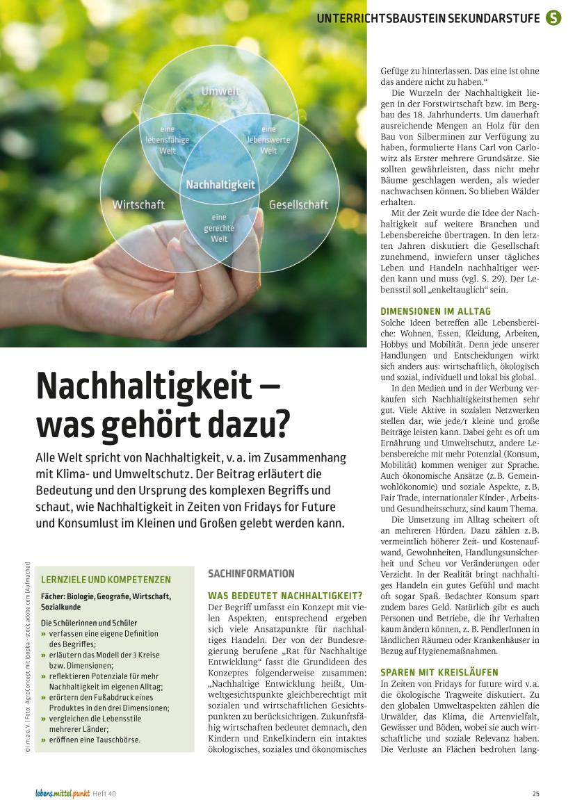 Nachhaltigkeit - was gehört dazu?