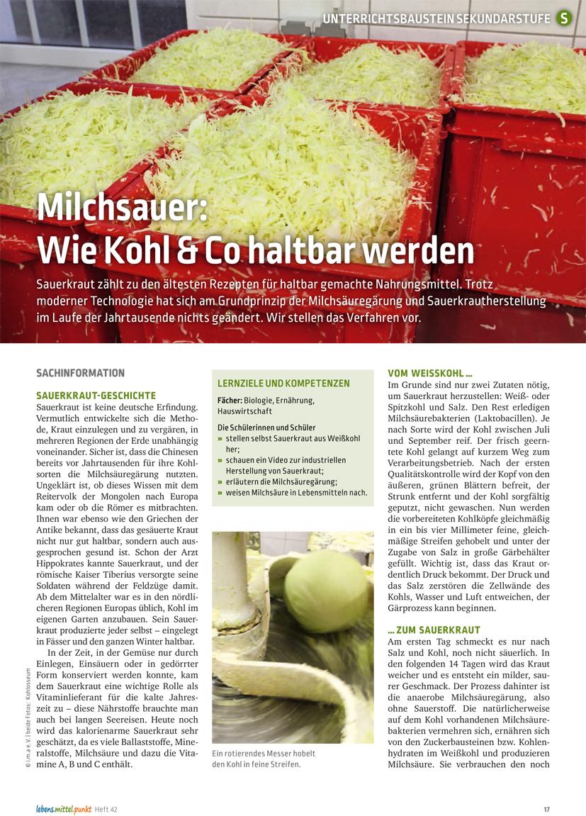 Milchsauer: Wie Kohl & Co haltbar werden