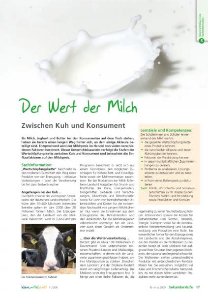 Der Wert der Milch