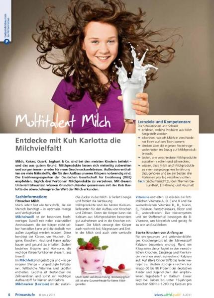 Multitalent Milch