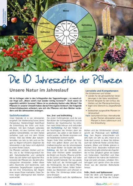 Die 10 Jahreszeiten der Pflanzen