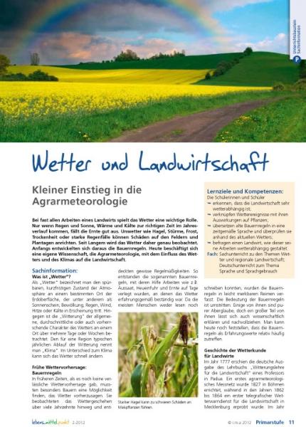 Wetter und Landwirtschaft