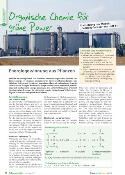 Organische Chemie für grüne Power
