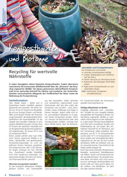 Komposthaufen und Biotonne