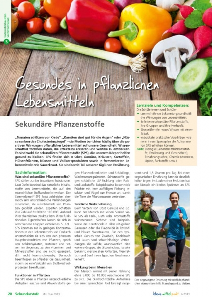 Gesundes in pflanzlichen Lebensmitteln