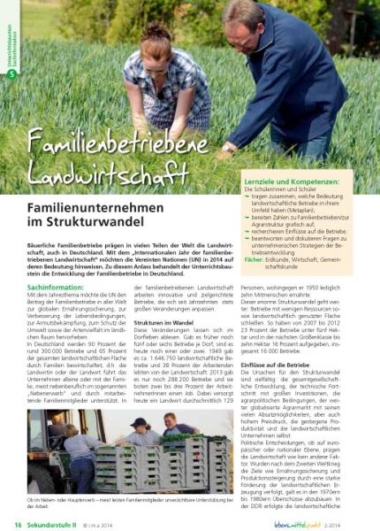 Familienbetriebene Landwirtschaft
