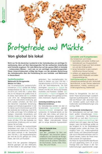 Brotgetreide und Märkte