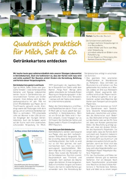 Quadratisch praktisch für Milch, Saft & Co.