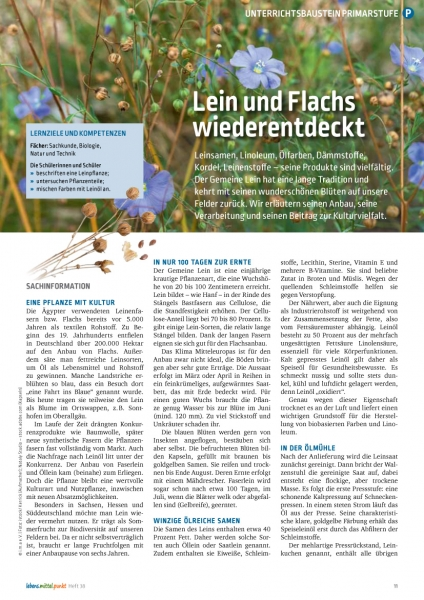 Lein und Flachs wiederentdeckt
