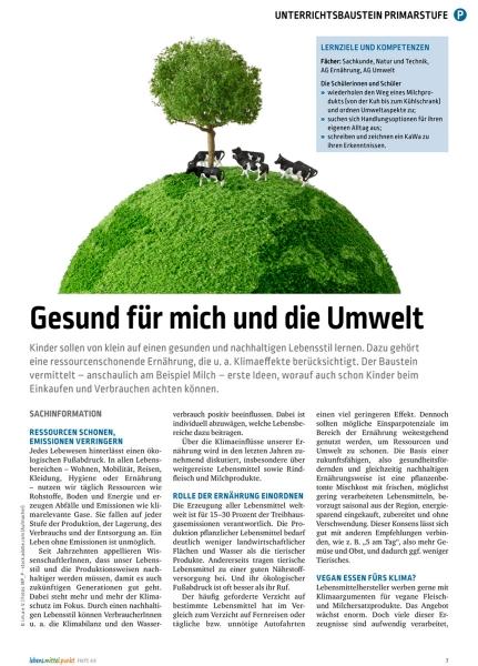 Nachhaltigkeit und Milch