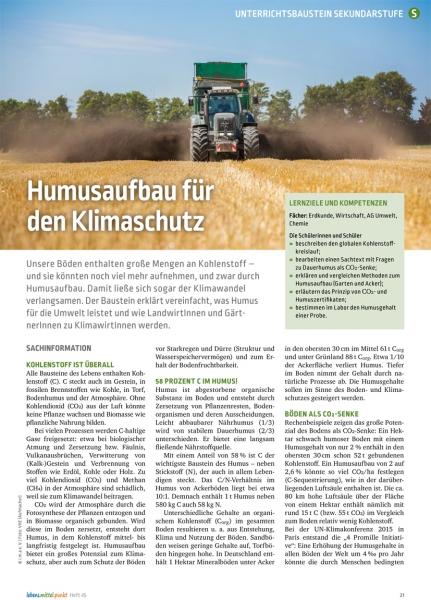 Humusaufbau für Klimaschutz
